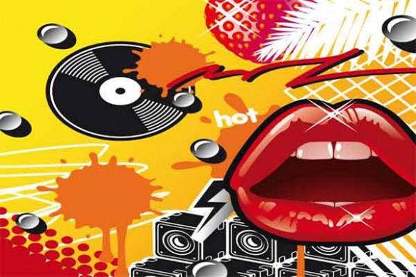 Tableau pop art bouche Lips jaune