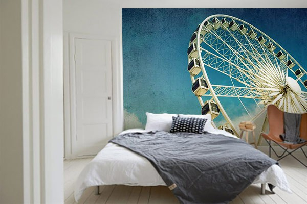 poster mural xxl grande roue izoa. Black Bedroom Furniture Sets. Home Design Ideas