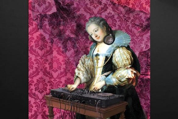 déco mur baroque DJ Barok