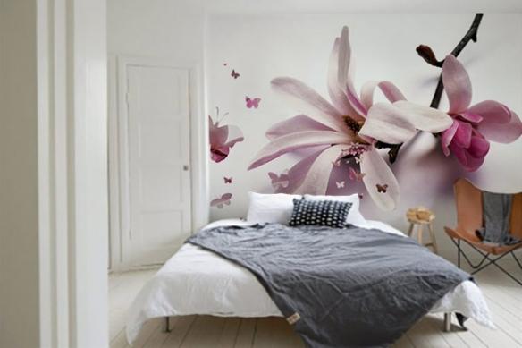 Papier Peint chambre Fleur de Chrysalide
