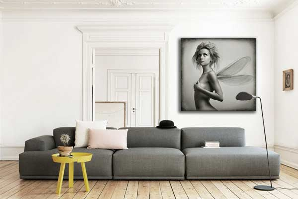 tableau femme erotique ange cadre photo noir et blanc. Black Bedroom Furniture Sets. Home Design Ideas