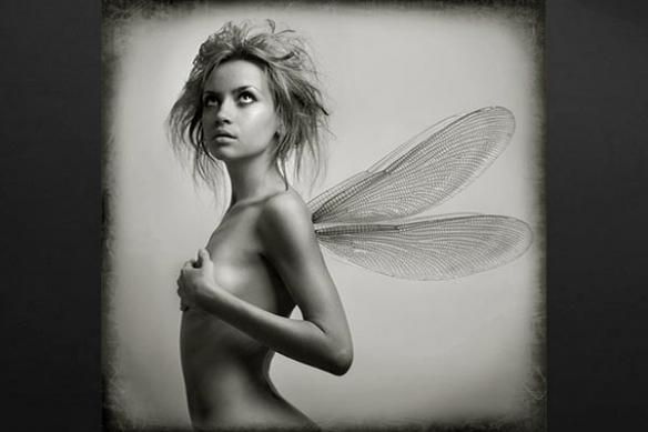 Toile imprimée femme aile ange