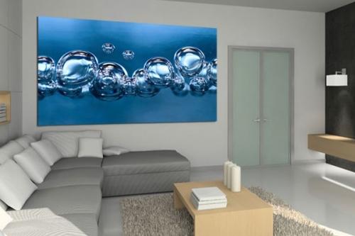 bubbles eau bulles déco toile design