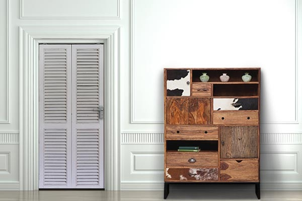 Sticker trompe l 39 oeil panneaux de bois blancs izoa - Deco porte placard ...