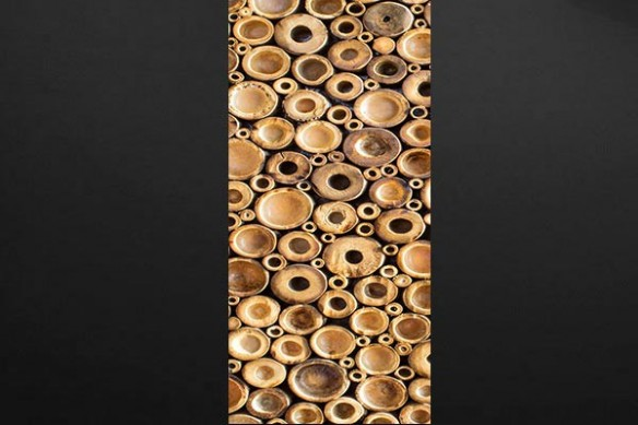 Sticker porte déco bambou coupé