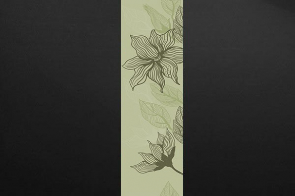 Papier peint déco zen Bégonia vert