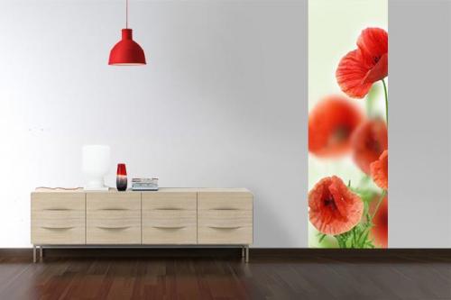 Papier peint décoration Coquelicots