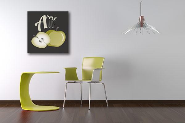 tableau d co apple juice d coration murale pour cuisine. Black Bedroom Furniture Sets. Home Design Ideas