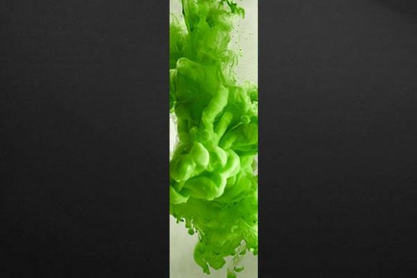 Papier peint Précipité vert