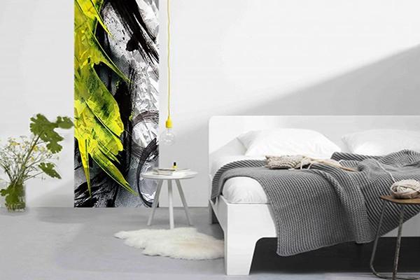 papier peint mur peinture fraiche izoa. Black Bedroom Furniture Sets. Home Design Ideas