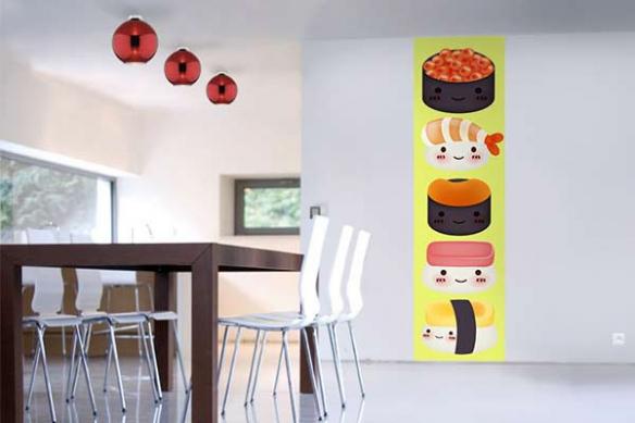 Papier peint cuisine sushi