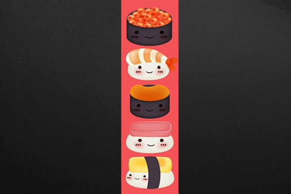 Papier peint lé unique sexy sushi rouge