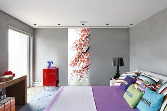 Poster geant zen Kyrielle de Fleurs