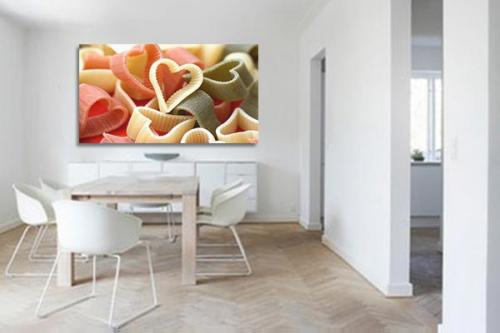 tableau décoration Pâtes en Coeur