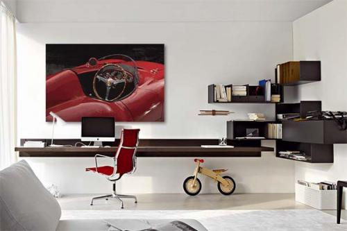 Tableau design voiture rouge