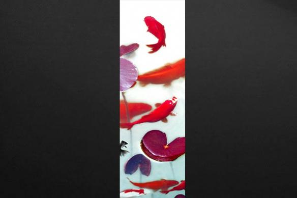 Papier peint deco zen Poissons Carpes