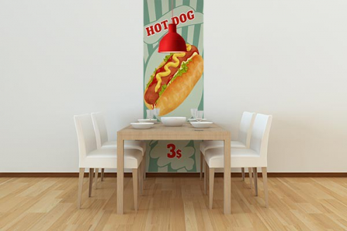 Papier peint vintage Hot Dog
