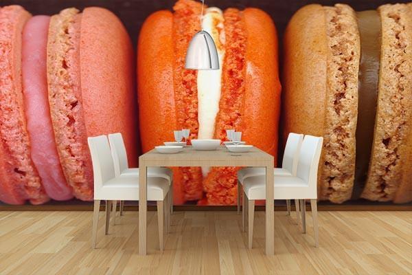 Papier peint cuisine macarons izoa - Papier peint cuisine moderne ...