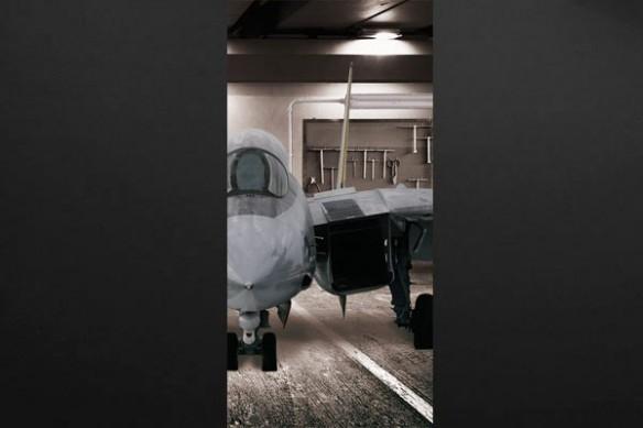 Sticker déco porte Avion de chasse