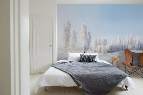 Poster mural Blanc comme neige