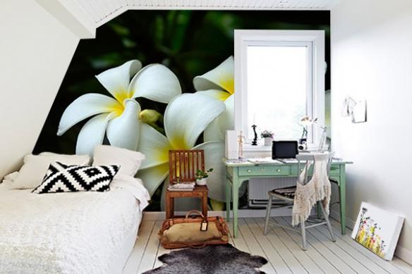 Papier peint zen Fleur Blanche