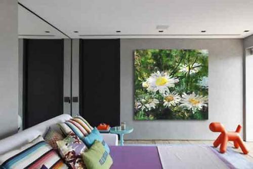 Tableau Fleur Marguerites blanches