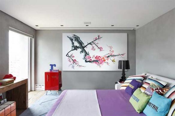 décoration chambre murale Bonzaï
