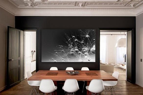 Tableau design noir et blanc Etincelle