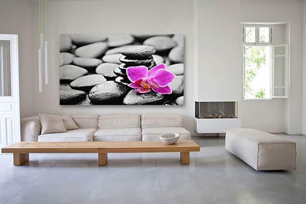 tableau zen flower izoa. Black Bedroom Furniture Sets. Home Design Ideas