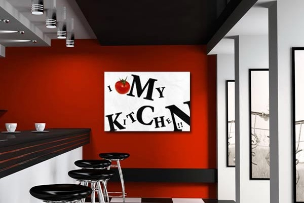 Tableau moderne i love my kitchen - Tableau de cuisine moderne ...