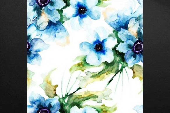 Toile imprimée Bleu délicat