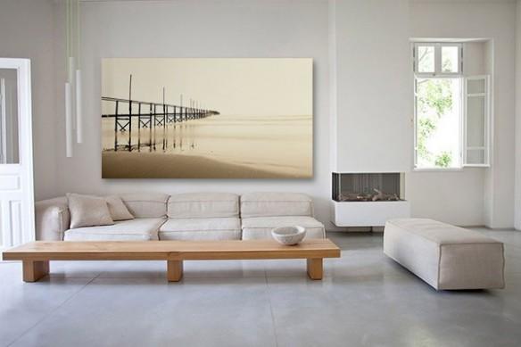 Tableau décoration sable humide