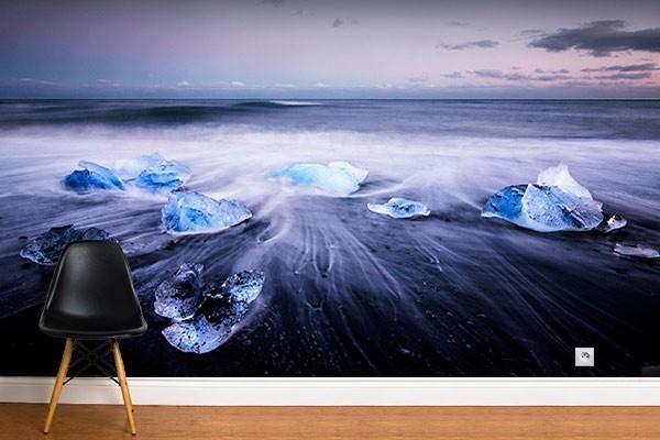 poster mural coucher de soleil izoa. Black Bedroom Furniture Sets. Home Design Ideas