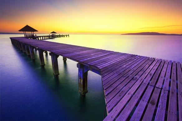 Toile imprimée paysage déco Papeete
