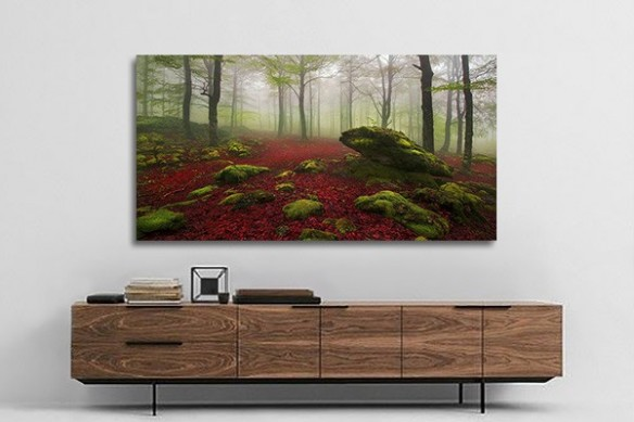 Toile paysage foret