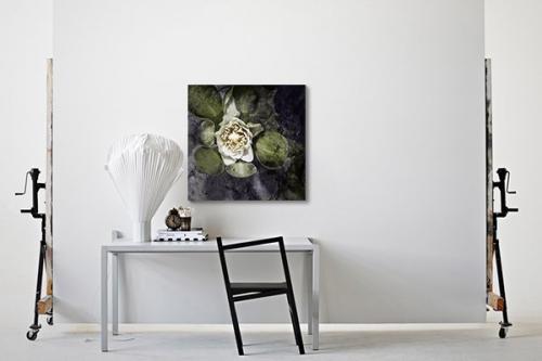 Tableau déco fleur aquatique