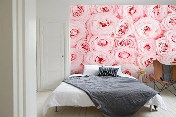 poster mural mille roses izoa. Black Bedroom Furniture Sets. Home Design Ideas