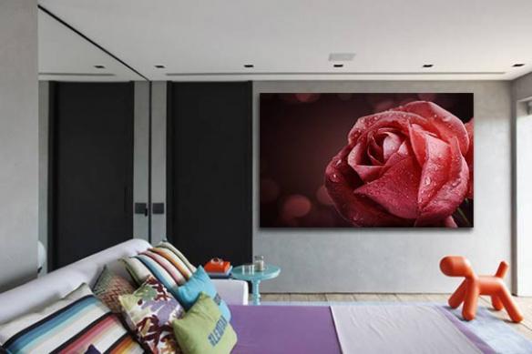 Tableau design Rose Nahéma