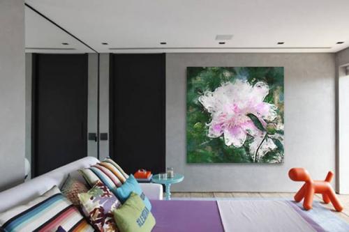Tableau design Rose Aquarelle