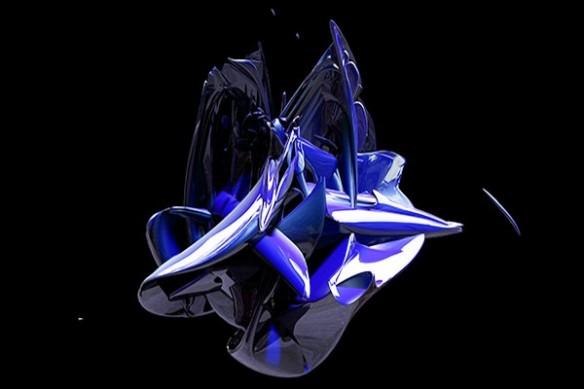 Tableau moderne Big Bang bleu