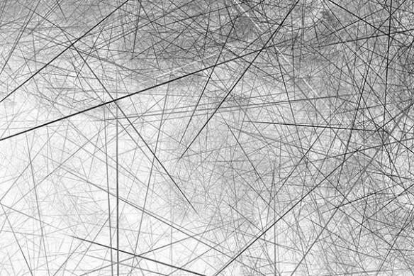 Tableau abstrait Fibre