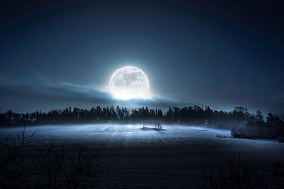 Toile déco Nouvelle Lune