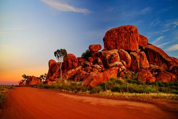 Tableau paysage Rochers Australiens