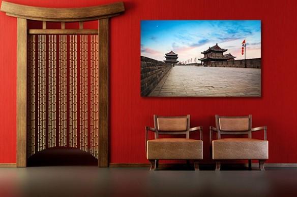 Tableau décoration rouge chine