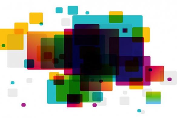 Tableau design abstrait Arlequin