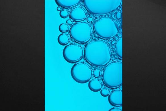 Tableau design cellulaire bleu ciel