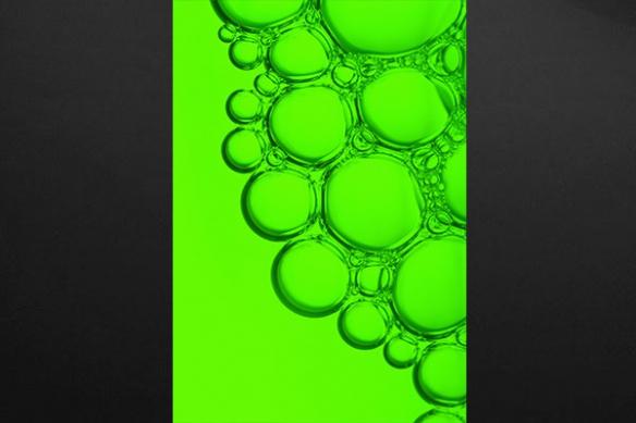 Toile abstraite cellulaire vert