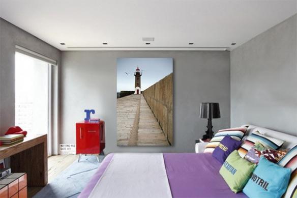 Tableau moderne entrée du phare