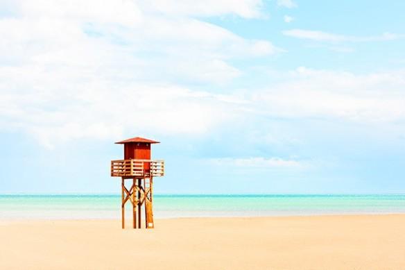 Toile déco plage sauveteur