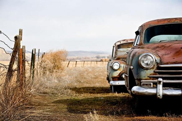 Toile déco vintage voiture